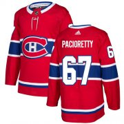 Wholesale Cheap Adidas Canadiens #67 Max Pacioretty Red Home Authentic Stitched NHL Jersey