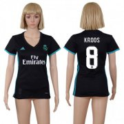 Wholesale Cheap Women's Real Madrid #8 Kroos Away Soccer Club Jersey