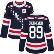 Wholesale Cheap Adidas Rangers #89 Pavel Buchnevich Navy Blue Authentic 2018 Winter Classic Women's Stitched NHL Jersey