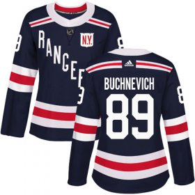 Wholesale Cheap Adidas Rangers #89 Pavel Buchnevich Navy Blue Authentic 2018 Winter Classic Women\'s Stitched NHL Jersey