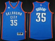 Wholesale Cheap Oklahoma City Thunder #35 Kevin Durant Revolution 30 Swingman 2014 New Blue Jersey