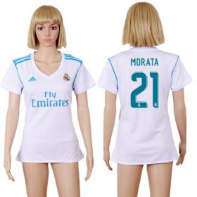 Wholesale Cheap Women\'s Real Madrid #21 Morata Home Soccer Club Jersey