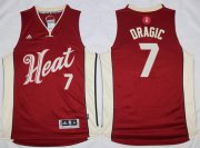 Wholesale Cheap Men's Miami Heat #7 Goran Dragic Revolution 30 Swingman 2015 Christmas Day Red Jersey