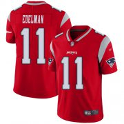 Wholesale Cheap Nike Patriots #11 Julian Edelman Red Men's Stitched NFL Limited Inverted Legend Jersey