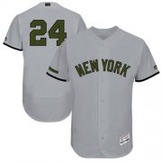Wholesale Cheap Yankees #24 Gary Sanchez Grey Flexbase Authentic Collection Memorial Day Stitched MLB Jersey