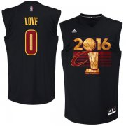 Wholesale Cheap Men's Cleveland Cavaliers Kevin Love #0 adidas Black 2016 NBA Finals Champions Jersey-Printed Style