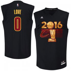 Wholesale Cheap Men\'s Cleveland Cavaliers Kevin Love #0 adidas Black 2016 NBA Finals Champions Jersey-Printed Style