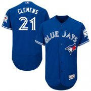 Wholesale Cheap Blue Jays #21 Roger Clemens Blue Flexbase Authentic Collection Stitched MLB Jersey