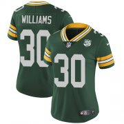 Wholesale Cheap Nike Packers #30 Jamaal Williams Green Team Color Women's 100th Season Stitched NFL Vapor Untouchable Limited Jersey
