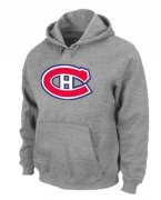 Wholesale Cheap NHL Montreal Canadiens Big & Tall Logo Pullover Hoodie Grey