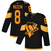 Wholesale Cheap Adidas Penguins #8 Mark Recchi Black Authentic 2019 Stadium Series Stitched NHL Jersey