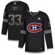 Wholesale Cheap Adidas Canadiens #33 Patrick Roy Black Authentic Classic Stitched NHL Jersey