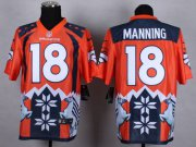 Wholesale Cheap Nike Broncos #18 Peyton Manning Orange Men's Stitched NFL Elite Noble Fashion Jersey