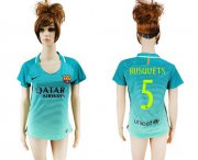 Wholesale Cheap Women's Barcelona #5 Busquets Sec Away Soccer Club Jersey
