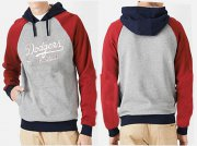 Wholesale Cheap Los Angeles Dodgers Pullover Hoodie Grey & Red