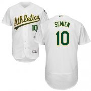 Wholesale Cheap Athletics #10 Marcus Semien White Flexbase Authentic Collection Stitched MLB Jersey