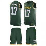 Wholesale Cheap Nike Packers #17 Davante Adams Green Team Color Men's Stitched NFL Limited Tank Top Suit Jersey