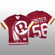Wholesale Cheap NFL Washington Redskins #56 Reuben Foster Red Men's Mitchell & Nell Big Face Fashion Limited NFL Jersey