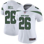 Wholesale Cheap Nike Jets #26 Le'Veon Bell White Women's Stitched NFL Vapor Untouchable Limited Jersey