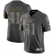 Wholesale Cheap Nike Saints #41 Alvin Kamara Gray Static Youth Stitched NFL Vapor Untouchable Limited Jersey