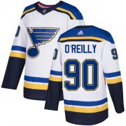 Wholesale Cheap Adidas Blues #90 Ryan O'Reilly White Road Authentic Stitched NHL Jersey