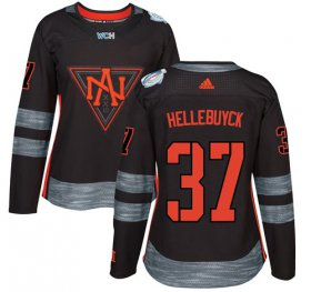 Wholesale Cheap Team North America #37 Connor Hellebuyck Black 2016 World Cup Women\'s Stitched NHL Jersey