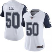 Wholesale Cheap Nike Cowboys #50 Sean Lee White Women's Stitched NFL Limited Rush Jersey