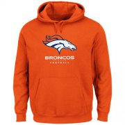 Wholesale Cheap Denver Broncos Critical Victory Pullover Hoodie Orange