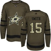 Wholesale Cheap Adidas Stars #15 Bobby Smith Green Salute to Service Stitched NHL Jersey