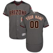 Wholesale Cheap Arizona Diamondbacks Majestic Flex Base Authentic Custom Jersey Gray