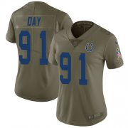 Wholesale Cheap Nike Colts #91 Sheldon Day Olive Women's Stitched NFL Limited 2017 Salute To Service Jersey