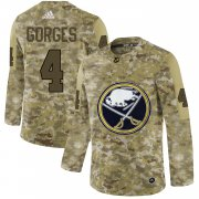 Wholesale Cheap Adidas Sabres #4 Josh Gorges Camo Authentic Stitched NHL Jersey