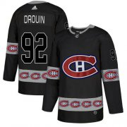 Wholesale Cheap Adidas Canadiens #92 Jonathan Drouin Black Authentic Team Logo Fashion Stitched NHL Jersey