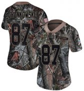 Wholesale Cheap Nike Buccaneers #87 Rob Gronkowski Camo Women's Stitched NFL Limited Rush Realtree Jersey