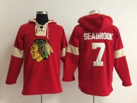 Wholesale Cheap Chicago Blackhawks #7 Brent Seabrook Red Pullover NHL Hoodie