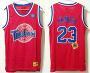 Wholesale Cheap Men's The Movie Space Jam #23 LeBron James Red Soul Swingman Basketball Jersey