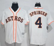 Wholesale Cheap Astros #4 George Springer White New Cool Base Stitched MLB Jersey