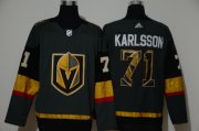 Wholesale Cheap Men's Vegas Golden Knights #71 William Karlsson Gray With Team Logo Adidas Stitched NHL Jersey