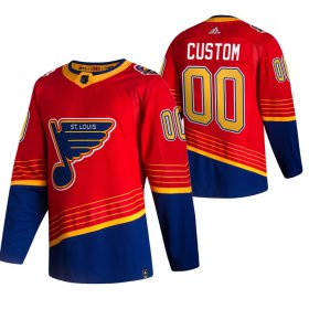 Wholesale Cheap St. Louis Blues Custom Red Men\'s Adidas 2020-21 Reverse Retro Alternate NHL Jersey