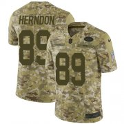 Wholesale Cheap Nike Jets #89 Chris Herndon Camo Men's Stitched NFL Limited 2018 Salute To Service Jersey