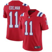 Wholesale Cheap Nike Patriots #11 Julian Edelman Red Alternate Youth Stitched NFL Vapor Untouchable Limited Jersey