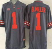 Wholesale Cheap Ohio State Buckeyes #1 Baxton Miller Gray 2015 College Football Nike Limited Jersey