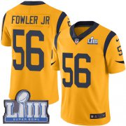 Wholesale Cheap Nike Rams #56 Dante Fowler Jr Gold Super Bowl LIII Bound Men's Stitched NFL Limited Rush Jersey