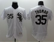 Wholesale Cheap White Sox #35 Frank Thomas White(Black Strip) Flexbase Authentic Collection Stitched MLB Jersey