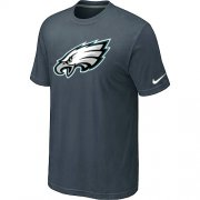 Wholesale Cheap Nike Philadelphia Eagles Sideline Legend Authentic Logo Dri-FIT NFL T-Shirt Crow Grey