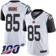Wholesale Cheap Nike Bengals #85 Tee Higgins White Men's Stitched NFL Limited Rush 100th Season Jersey