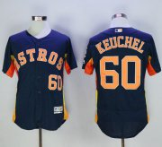 Wholesale Astros #60 Dallas Keuchel Navy Blue Flexbase Authentic Collection Stitched Baseball Jersey