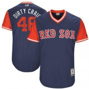 "Wholesale Cheap Red Sox #46 Craig Kimbrel Navy ""Dirty Craig"" Players Weekend Authentic Stitched MLB Jersey"