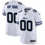 Wholesale Cheap Los Angeles Rams Custom Nike White Team Logo Vapor Limited NFL Jersey