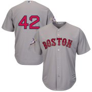 Wholesale Cheap Boston Red Sox #42 Majestic 2019 Jackie Robinson Day Official Cool Base Jersey Gray